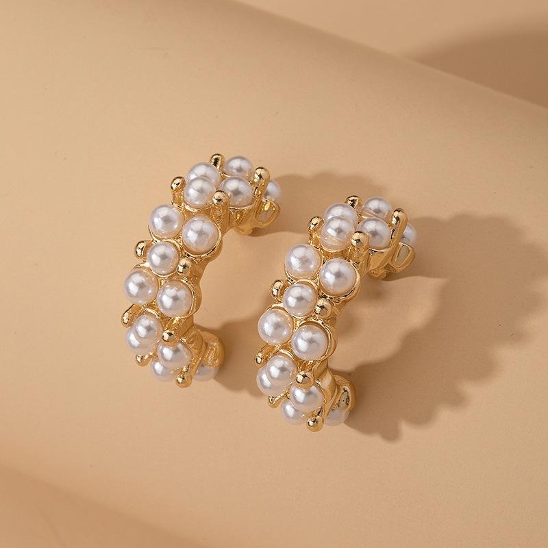 Женской 2020 Новой мода стержень ухо неосновного Дизайн Изысканных моды барокко серьга Простой Имитация Pearl серьга