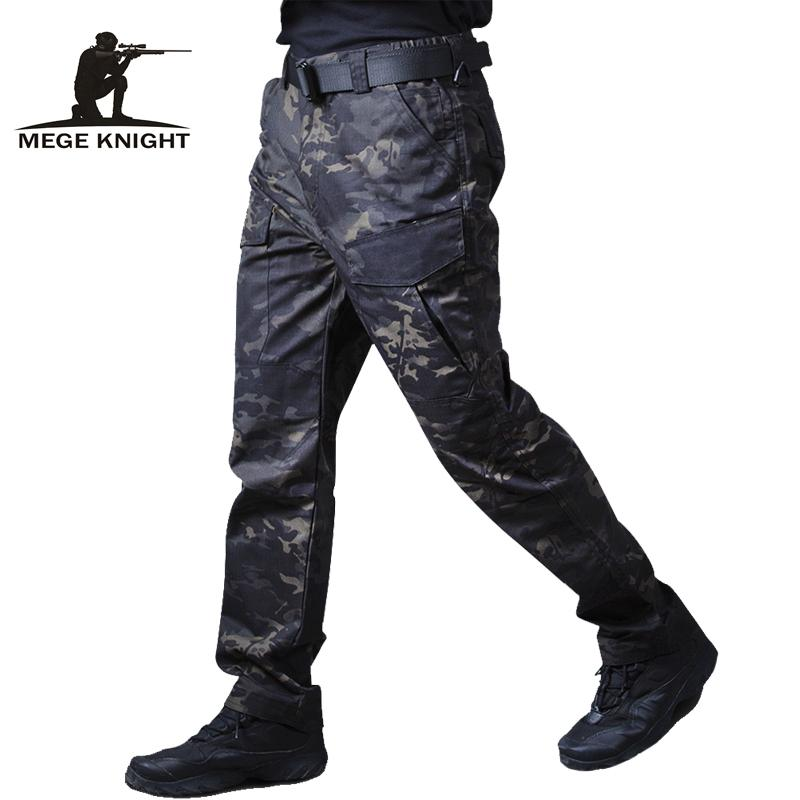 Mege Military Tactical Cargo pants Male Casual Trousers Camouflage Dropship Joggers Motorcycle Work Clothes Pantalones Hombre T200219