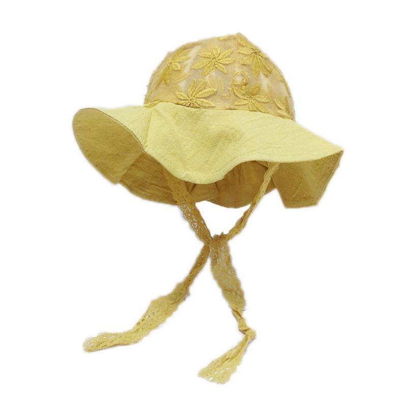 Принцесса Новорожденный Мода хлопок кружево Fisherman младенца шлема детей Защита от солнца Cap XXFE