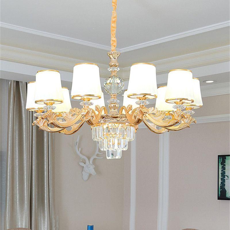 CresTech Cristal européen Lustre Salon simple lampe à manger moderne salle Chandelier 2020 Lustre Nouveau Chambre