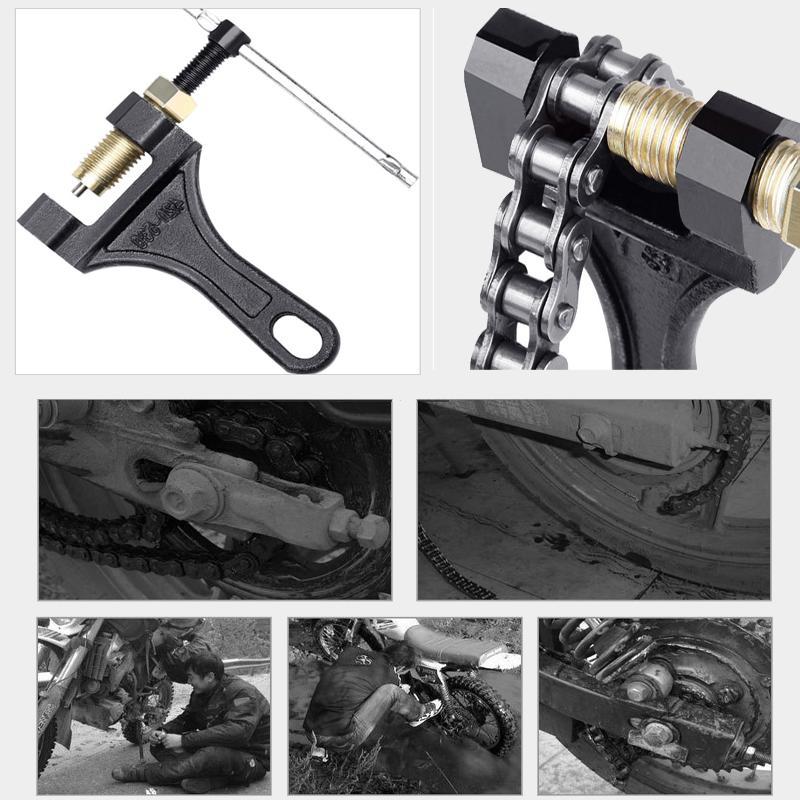 Motorcycle Chain Breaker Link Removal Splitter Motor Chain Cutter Riveting Tool 420-530