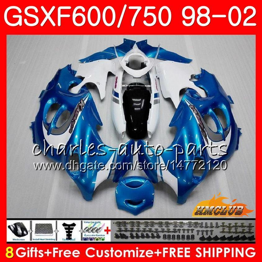 Kropp för Suzuki Katana Ljusblå GSX600F GSXF750 1998 1999 2000 2001 2002 2HC.58 GSXF 750 600 GSX750F GSXF600 98 99 00 01 02 Fairing Kit
