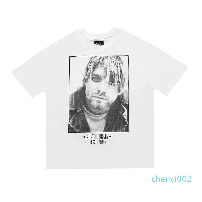 20ss Hip Hop 6th Fear Of God Kurt Cobain Rock Band Vintage Photo Tee Skateboard Tshirt Fog Men Women Short Sleeve Casual T Shirt t01c02