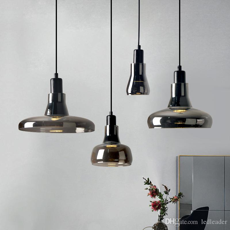 Kitchen Pendant Light Bar Lamp Modern Pendant Lighting Grey Glass Ceiling Lights