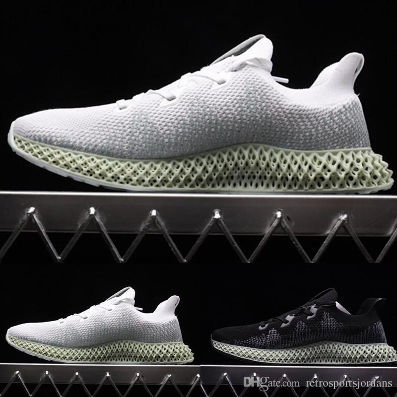 Hender Scheme x ZX 4000 4D Chaussures de course à pied Noir Blanc Futurecraft Baskets à Semelle Imprimée Femmes Baskets