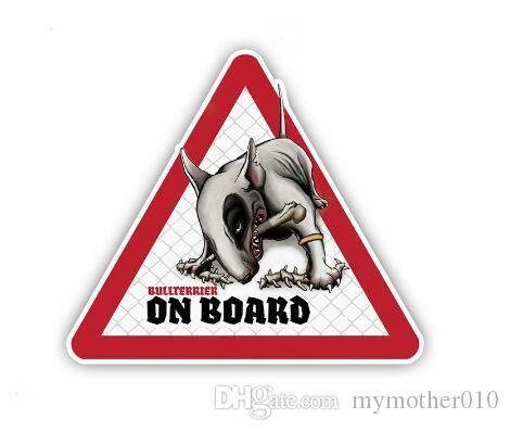 Bullterrier perro para el coche auto / Parachoques / ventana / pared de la etiqueta de la etiqueta engomada DIY Decoración CT10920