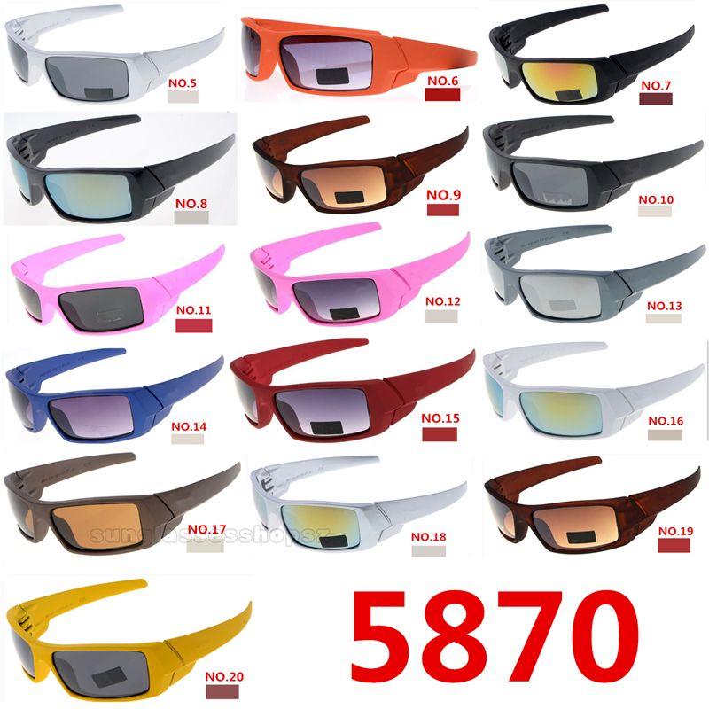 Classic 5870 sunglasses fashion Designer brand eyeglasses BEST Hot Sale NOT Polarized UV400 Sun glasses Men Women Sport Cycling Glasses