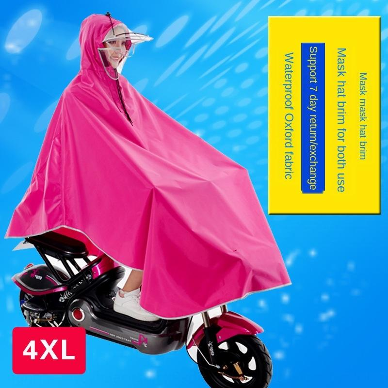 XRsiZ poncho mask Motorcycle electric vehicle electric vehicle type battery car thickened Oxford waterproof fabric battery car motorcycle r