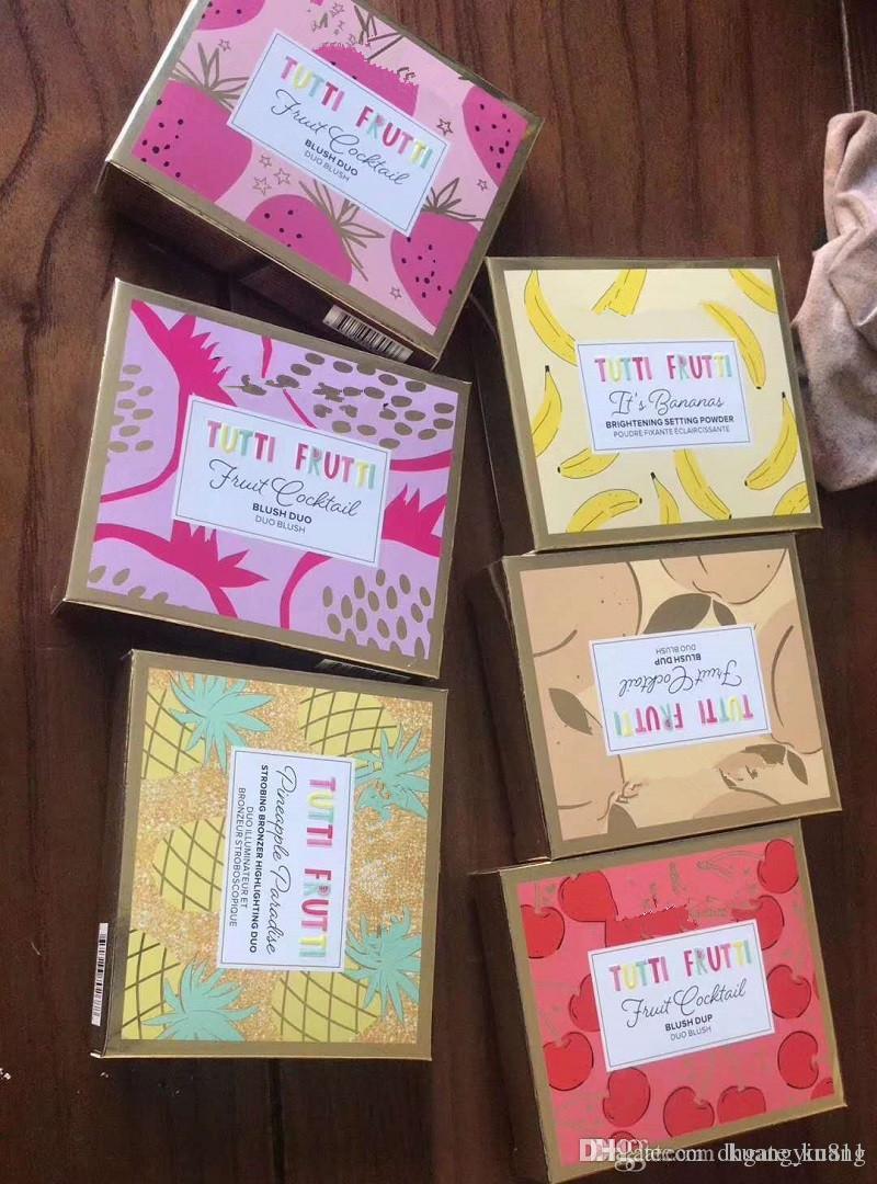 Hot 2018 Makeup Brand Fruit cocktail Blus DUO / Bronzer resaltadores Blush 6colors Face Powder palette DHL envío