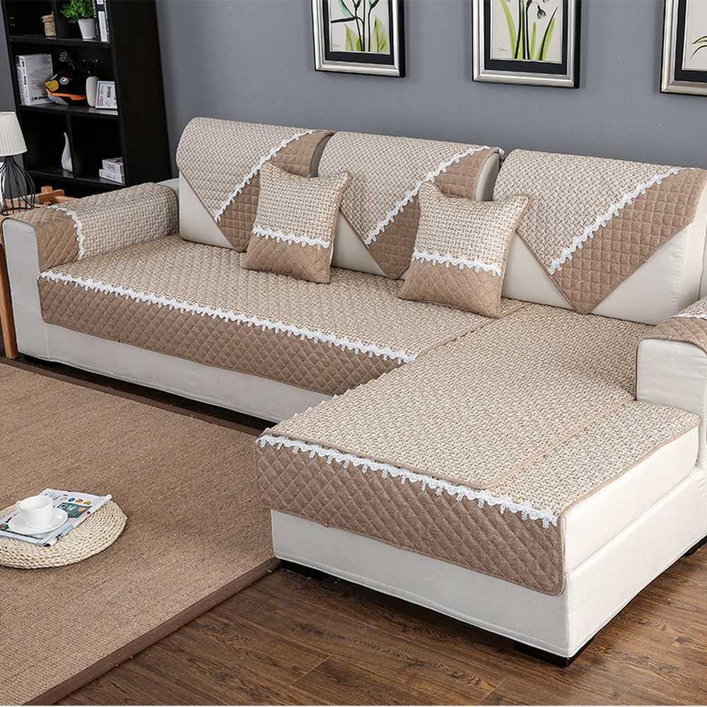 Cuscini Beige Per Divano acquista moderna semplicità lino copridine antiscivolo divani cuscino  federa copripiumino copridivano componibile in lino di alta qualità a 22,74  €