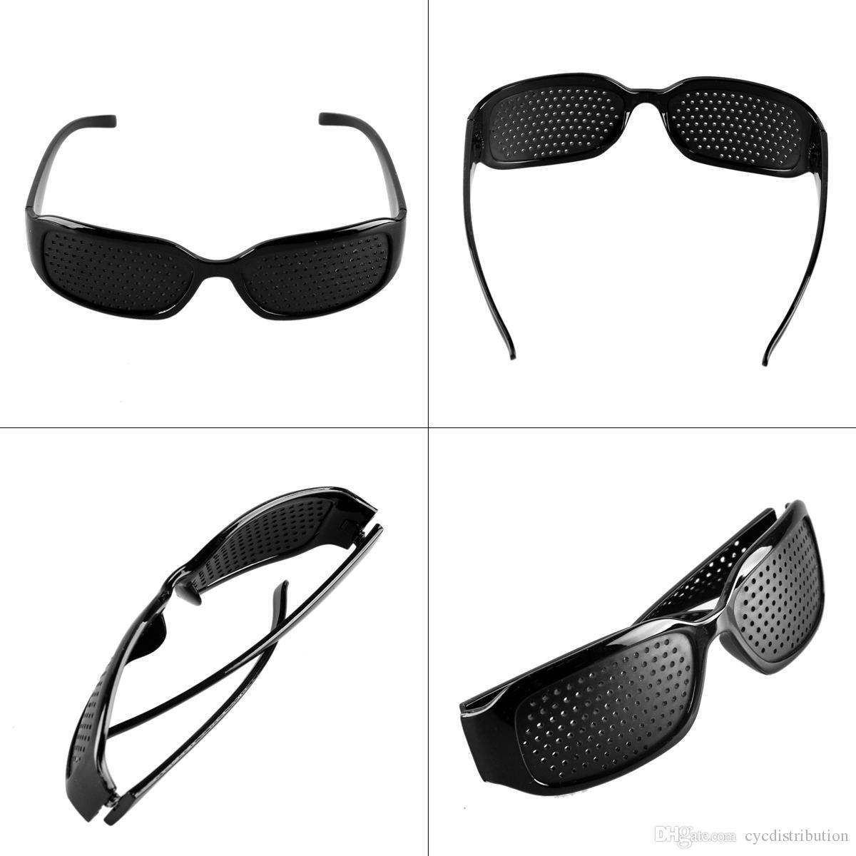 High Quality Style 1 PCS Unisex Glasses Anti-fatigue Stenopeic Pinhole Eyewear Eyesight Improve Vision Care Sunglass