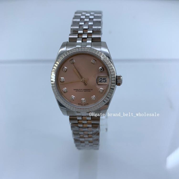 Лавочник рекомендует лучшую дату даты носителя 31 из нержавеющей стали розовый золотой алмазные женские часы 178274