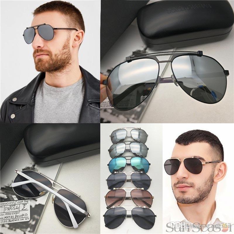 Occhiali da sole da uomo di moda popolare occhiali da sole pilota telaio in metallo 2189 occhiali di protezione uv 400 occhiali da sole classici