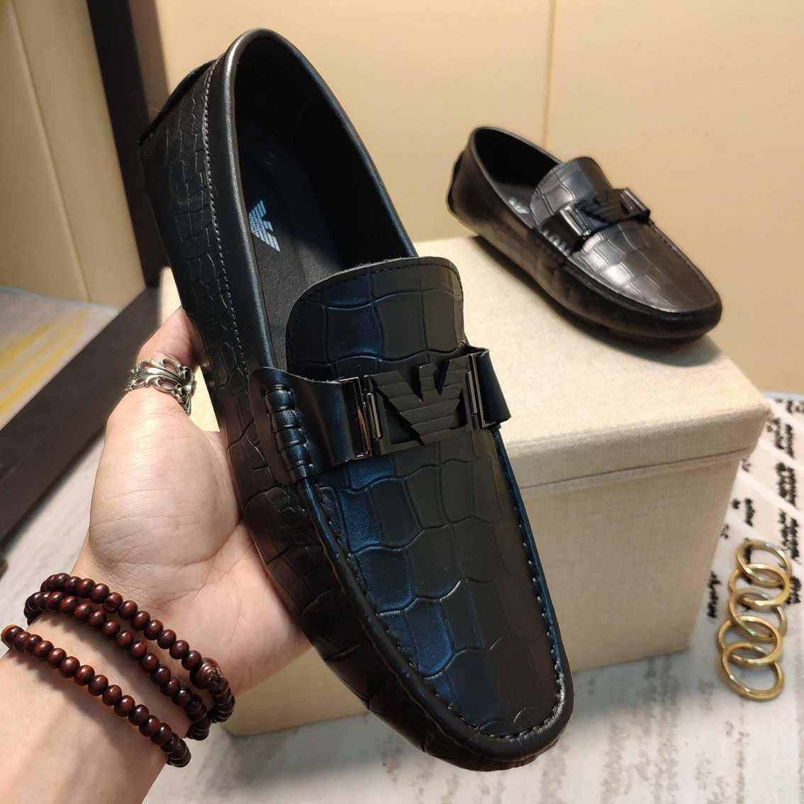 Men's fashionable business Leather Classic Doug shoes casual flat shoes