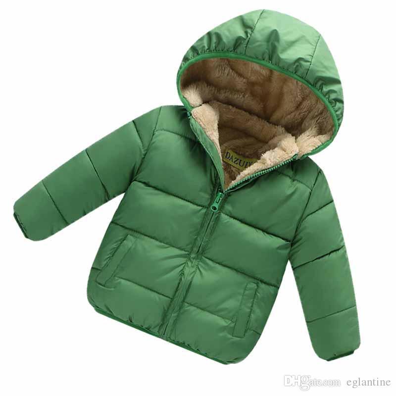 Kinder Kleinkind Junge Winter parkas Jacken für Kinder Oberbekleidung Kleidung Baumwolle Samt Baby Pullover Mantel Kleidung