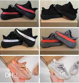 Designer Marca Calçados Infantis Bebê estática verdadeira forma argila Kanye West Correndo Trainers Butter Semi Zebra Crianças Boy Girl Beluga 2,0 Sneakers