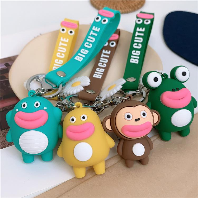3D Cute Cartoon Doll Keychain Toys Chain For Women Men Pendent Trendy Key Chain Accessories Creative Jewelry