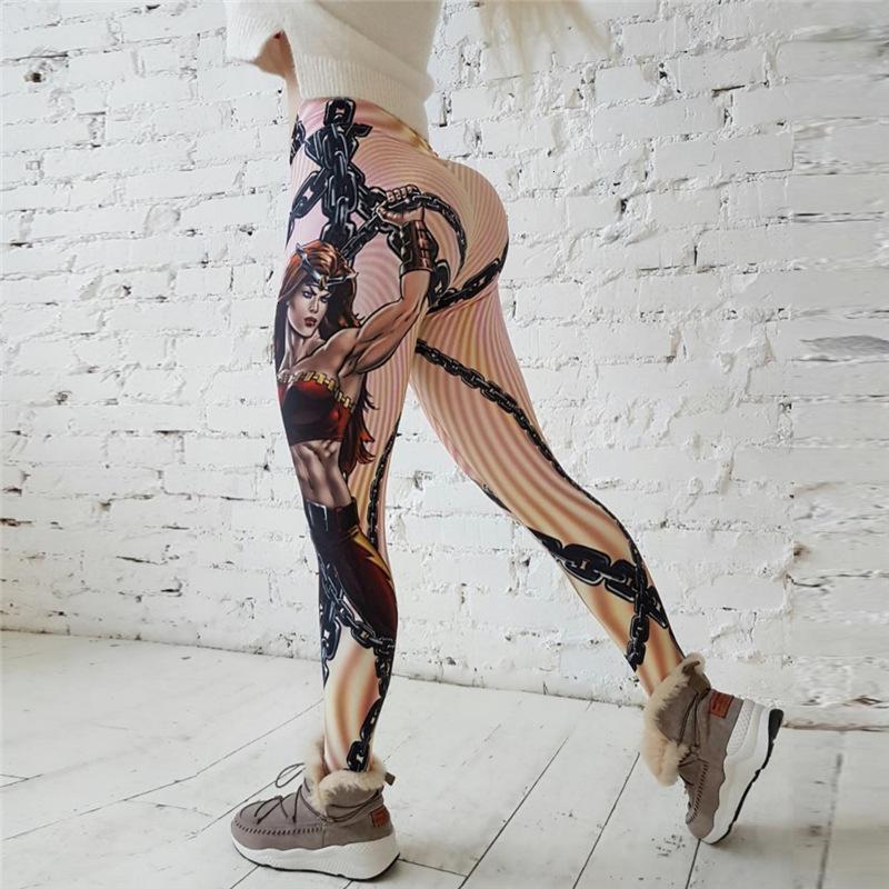 Polainas de las mujeres Nuevo caliente de la calidad del héroe polainas de las mujeres impresos empujan hacia arriba la aptitud Legging Jeggings Sporting delgado elástico de alta mallas de impresión 3D