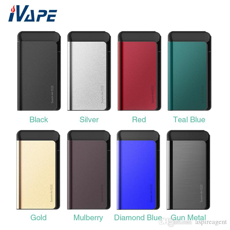 100% Original Suorin Air Plus Pod System Kit Built-in 930mAh with 3.5ml Refillable Cartridge 0.7ohm 1ohm Coils with Oil Baffle Design