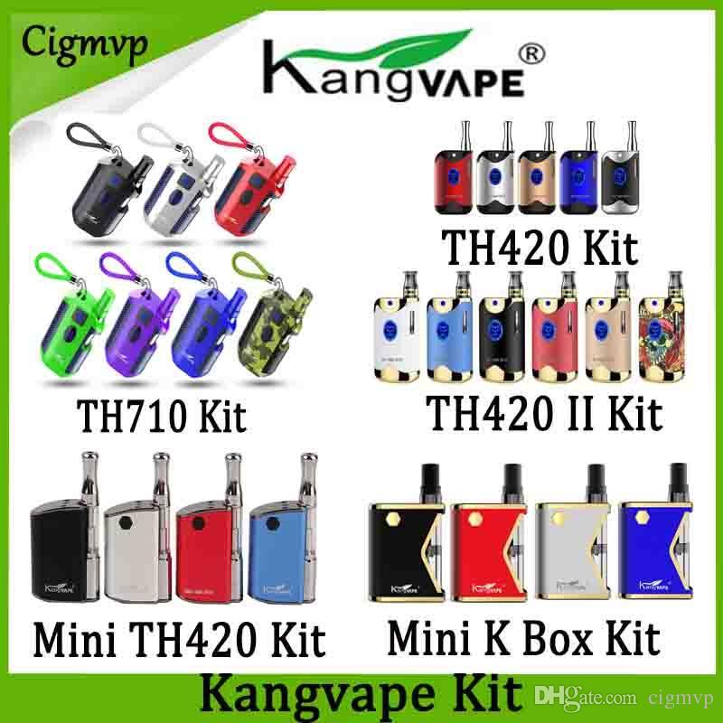 100٪ الأصلي kangvape TH710 TH-710 TH420 v1 TH-420 ii v2 البسيطة 420 كيلو مربع mod kit مع 0.5 ملليلتر خرطوشة لفائف السيراميك أصيلة