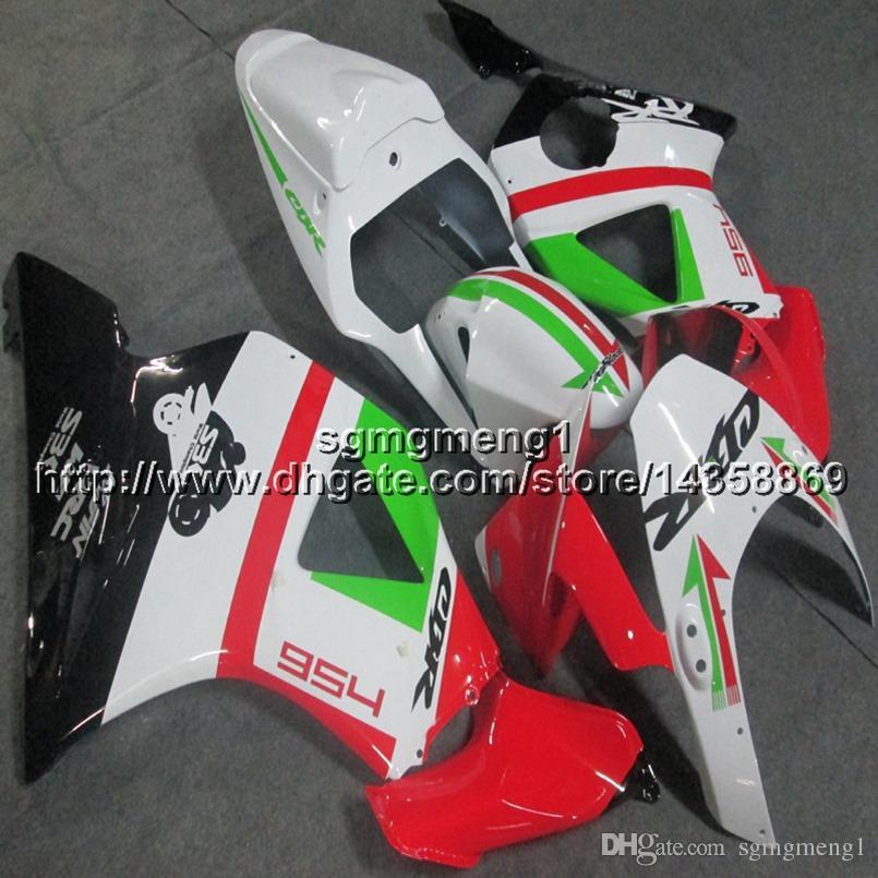 23colors+Screws red green motorcycle panels for HONDA CBR954RR 2002 2003 CBR 954 RR 02 03 ABS motor Fairing