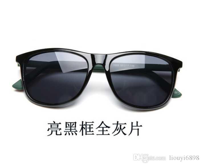 New Matte Black Sonnenbrille Herren Sonnenbrille Glas Lens Plank Sonnenbrille High Quality Damen Brille UV-Schutz Brille