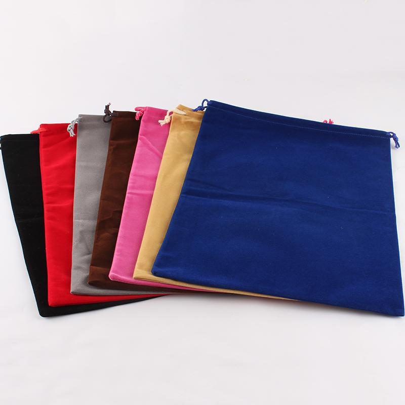 5pcs / lot costume impresso veludo Natal cordão bolsa grande sacos de embalagem dom saco de armazenamento Jóias Bag rangeme