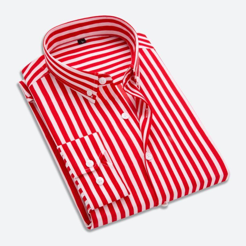 T-Oiseau Chemise Hommes Nouveau Rayé Manches Longues Hommes Robe Chemises Camisa Masculina Printemps Été Marque Casual Male Shirt Tops Super