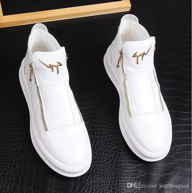 Mode Hommes Casual Chaussures De Mariage Parti Sneakers Confortables Hommes Chaussures De Marche De Haute Qualité Tendance Appartements Flats Chaussure P278
