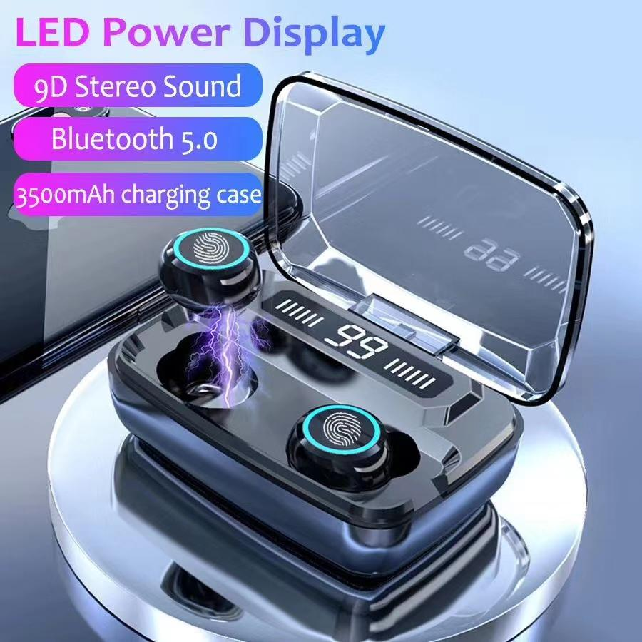 La reducción de ruido 5.0 auricular M11 TWS Auriculares inalámbricos Bluetooth Headset HiFi IPX7 impermeable para deportes F9 i11 i12 i18 i17 i100 tws