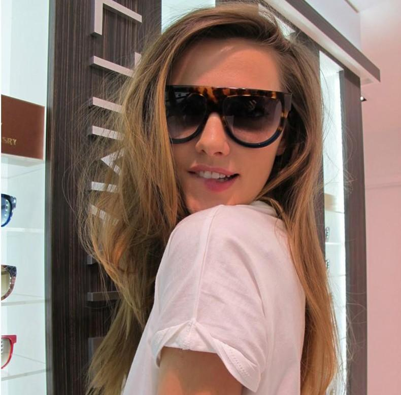 Wholesale-Women Fashion Cat Eye Shadow 3 Dots Sunglasses Design Gradient Sun Glasses Eyewear Oculos De Sol Feminino