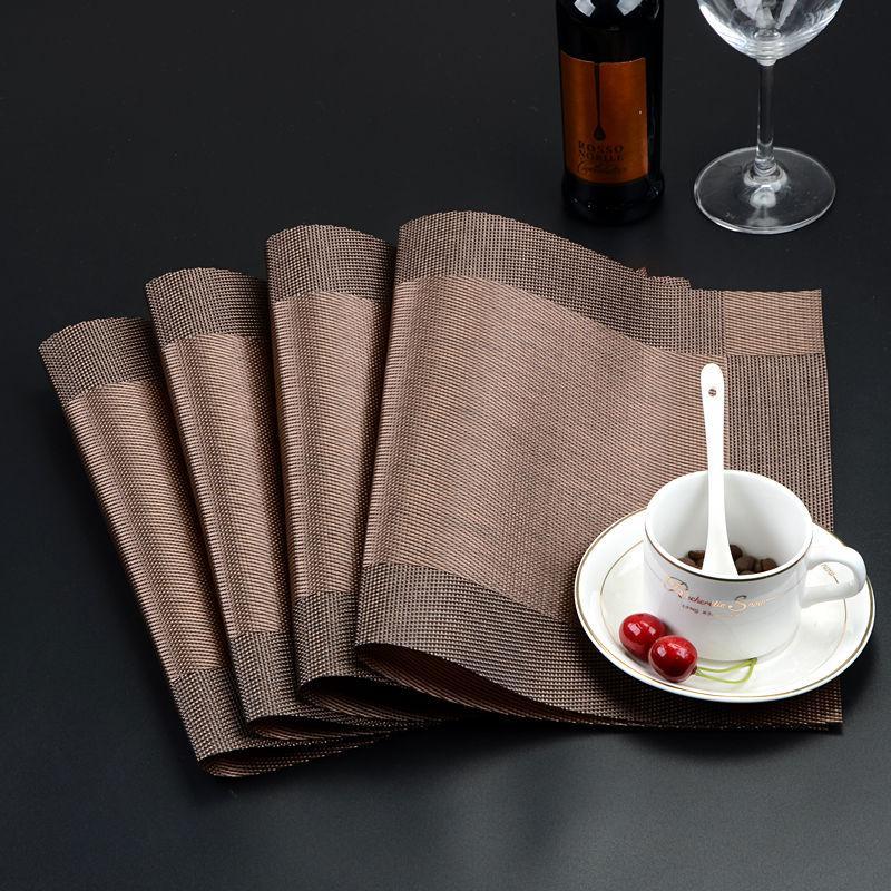 esteira 20200623 jantar, esteira de isolamento térmico, esteira comida ocidental, duas cores mesa de jantar, 30x45cm, lavagem com água, secagem rápida chapa esteira