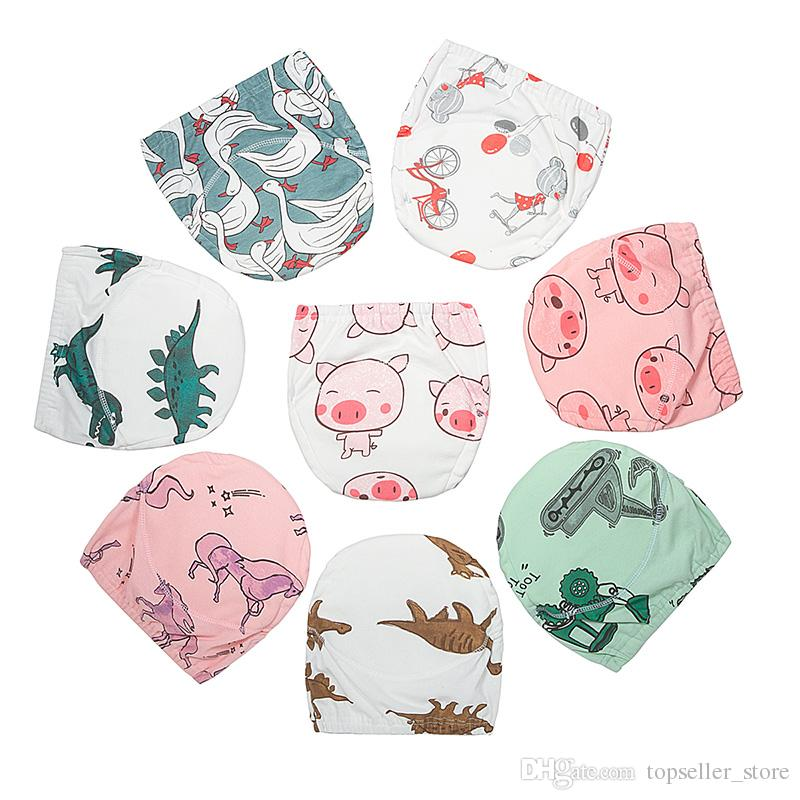8 Colors Baby Infant Toddler Waterproof Training Pants Cotton Changing Nappy Cloth Diaper Panties Reusable Washable