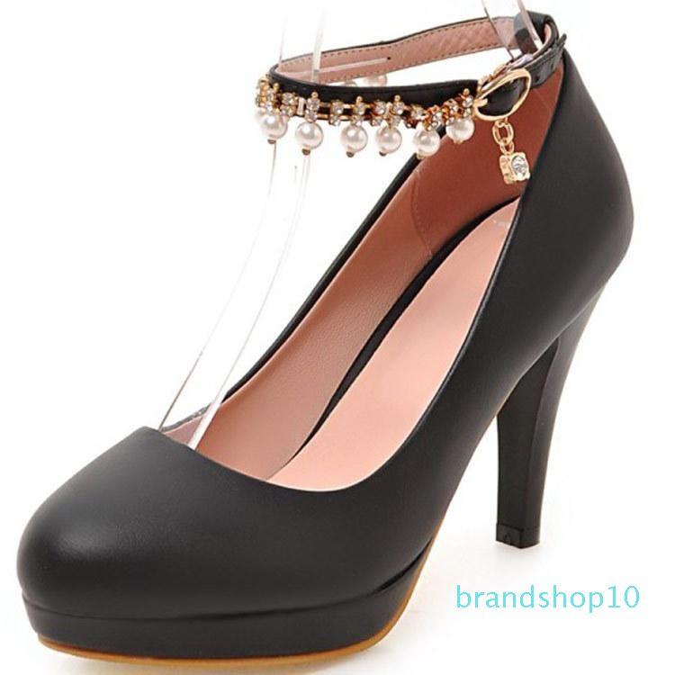 Fairy2019 утро хорошее на высоком каблуке горный хрусталь водонепроницаемая платформа будет женская обувь 40-43 хорошо с 5175-2