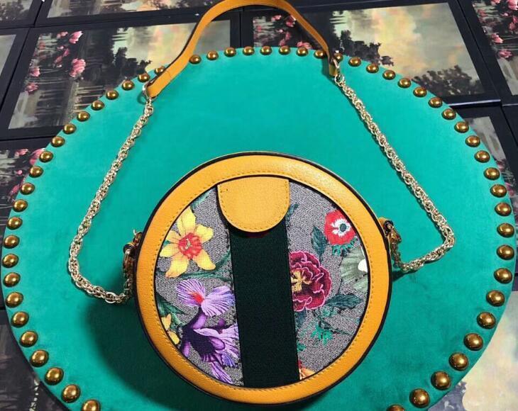 5A Calidad 550.618 18cm Exclusivo Online ofidios hombro flora Mini Ronda de cierre de la bolsa, la cremallera, la Bolsa de polvo, envío libre de DHL
