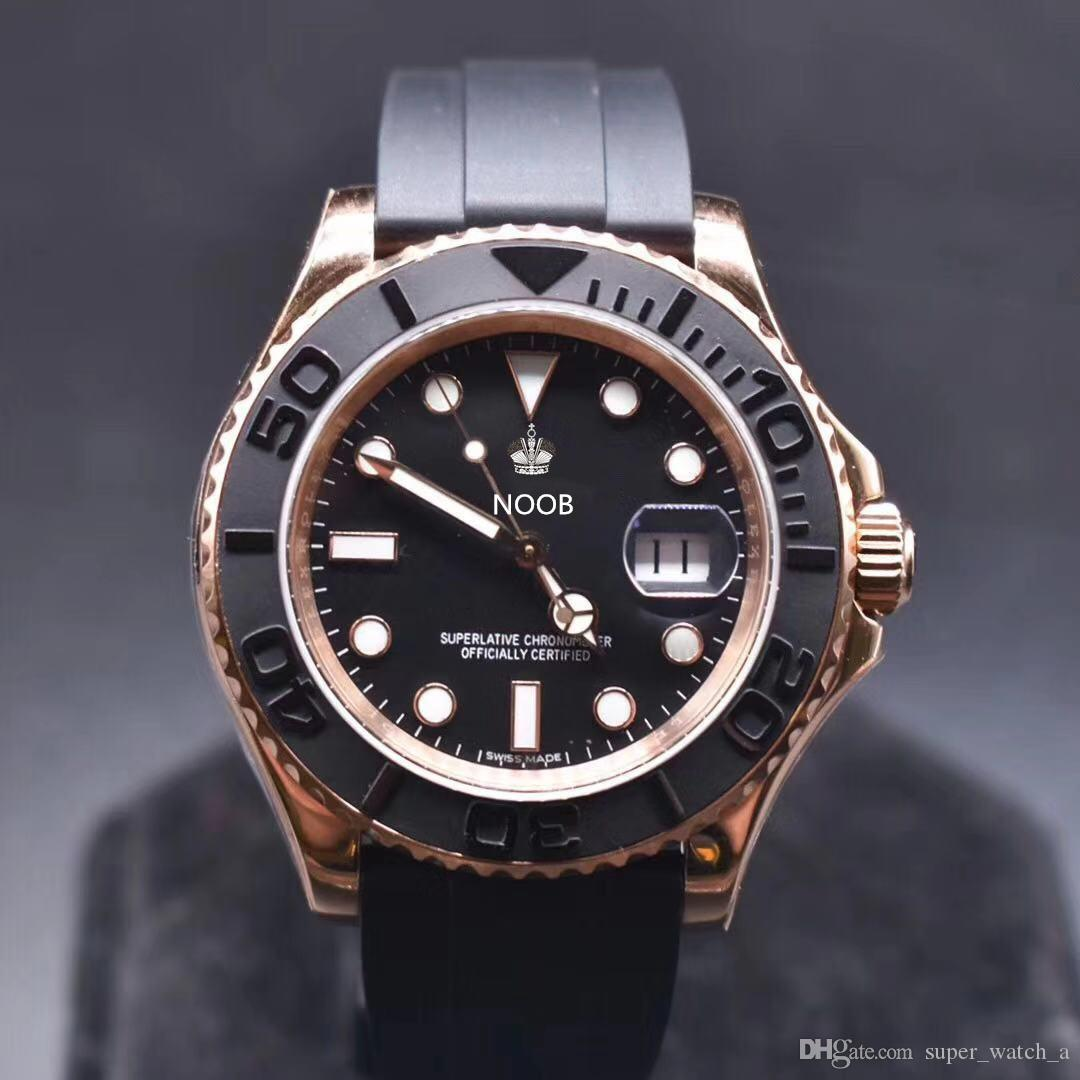 N 116655 iyi orologio di lusso 2836-3135 hareketi saatler siyah mat Cerachrom seramik yaka tasarımcı saatler lastik bant