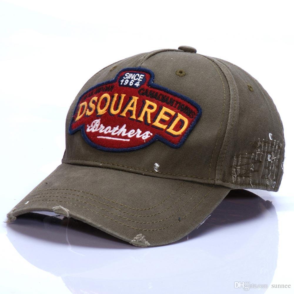 D2 Moda Ayarlanabilir Beyzbol Şapkası Spor Kapaklar Şapkalar Nakış Dört Mevsim Şapka Açık erkek Ve kadın Kap Hip-Hop Snapback Şapka