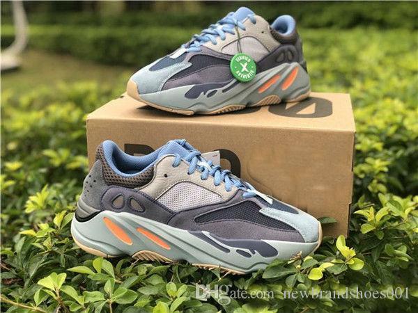 Atacado oeste 700 do corredor da onda Reflective Kanye V2 carbono azul malva sapatas Running sapatilhas do desenhista Homens Mulheres Utility Preto Vanta Tephra