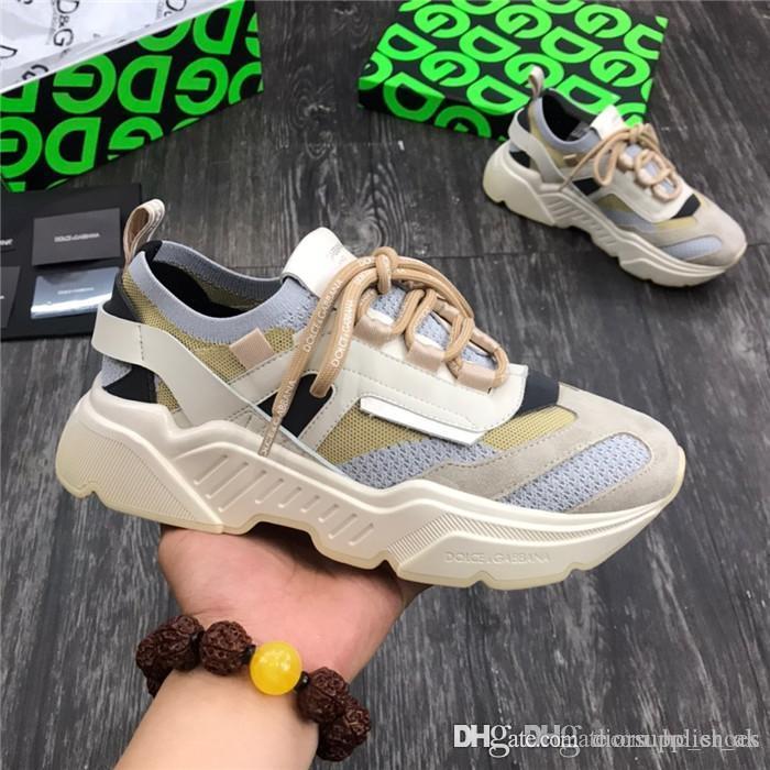 Mens Mujeres Daymaster zapatillas de deporte de lujo diseñadores de zapatos hechos elásticos tejido de punto superior Ronda logoed plantilla cordones de cuero con etiqueta con logotipo