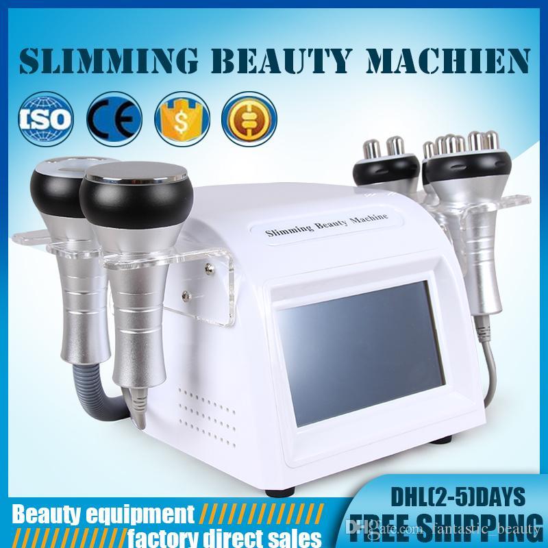 Promotion Multifunktionale Kavitation Ultraschall-Cellulite-Entfernung RF Haut Lifting Vakuum Körper schlank Haut Schönheit Maschine