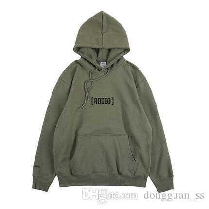 2020ss Oversized Hoodies Homens Mulheres Exército Impresso Verde inverno quente algodão moletom com capuz Homens