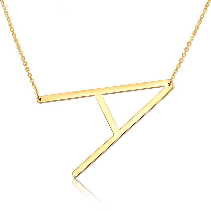 Pendant Necklaces Personalized Letter Necklace Gold Silver Stainless Steel Chain Custom Name Initial Charm Jewelry 1