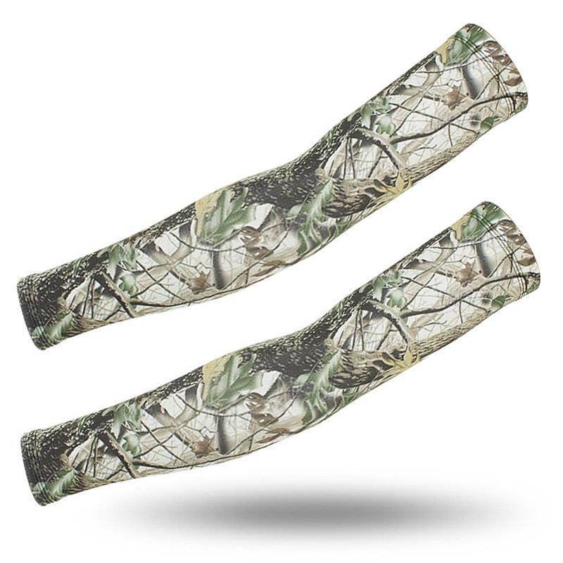 2020 Fashion Camo Arm Sleeve Tatoo Spandex Outdoor Mountain Climbing Cuffs Sunscreen Sleeves Arm Protectors Basketball Eblow Pad