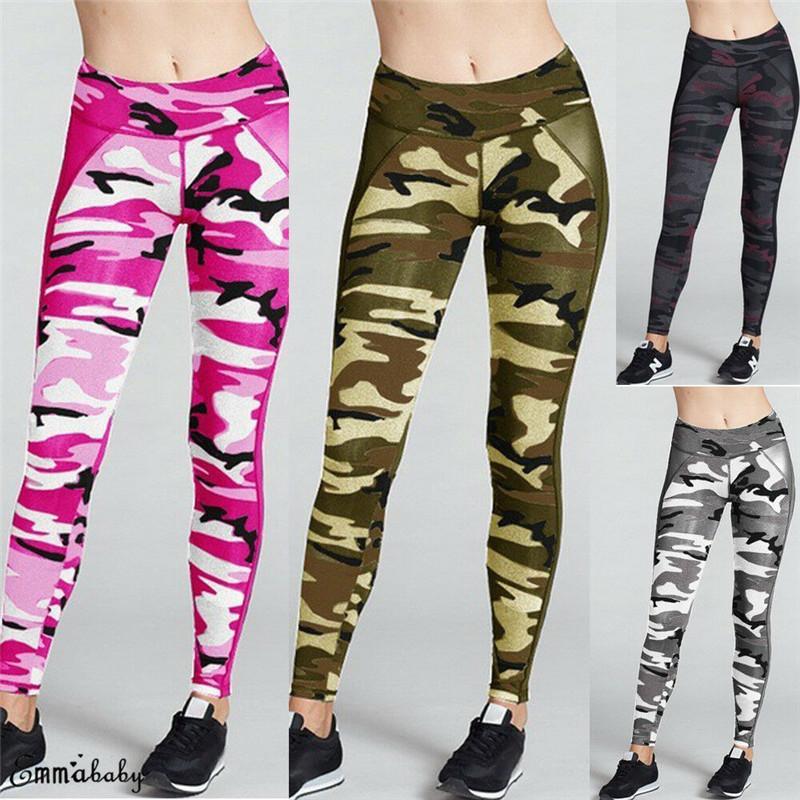 2019 패션 여성 여름 Bodycon 스웨트 팬츠 높은 허리 다채로운 위장 스포츠 엉덩이 바지 새로운 도착