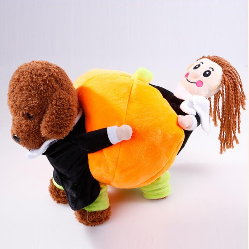 Pet Cotton Cloth Interesting Warm Halloween Costume Set Carrying Pumpkin for Dogs
