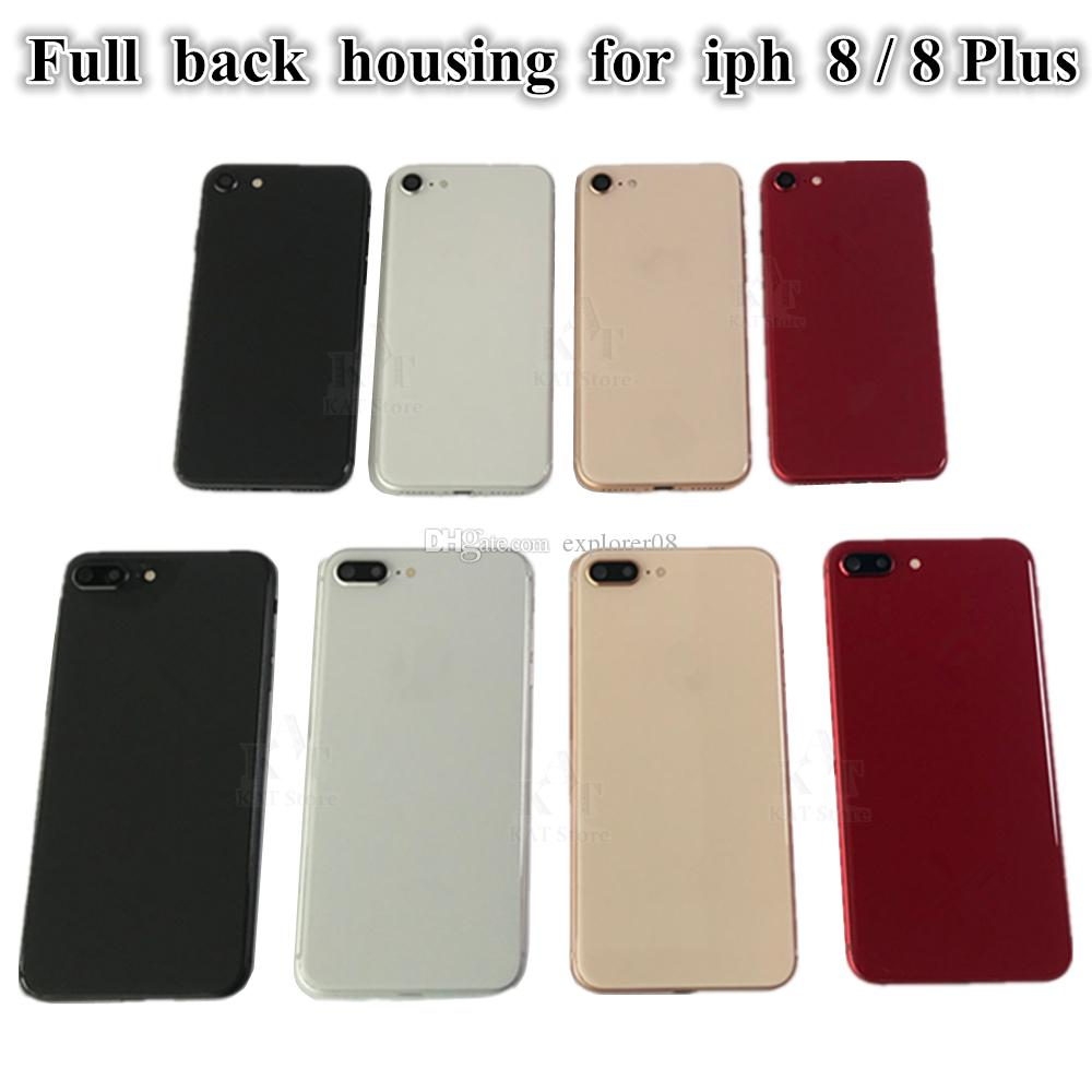 20Pcs for iPhone 8G 8 Plus Full Back Battery Door Housing Middle Frame Panel Cover Assembly + Logo With Vibrator Flex Replacement Parts