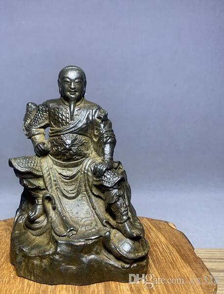 Antique ornaments copper basalt emperor Zhenwu emperor ancestor antique micro-carved copper antique copper bronze Buddha