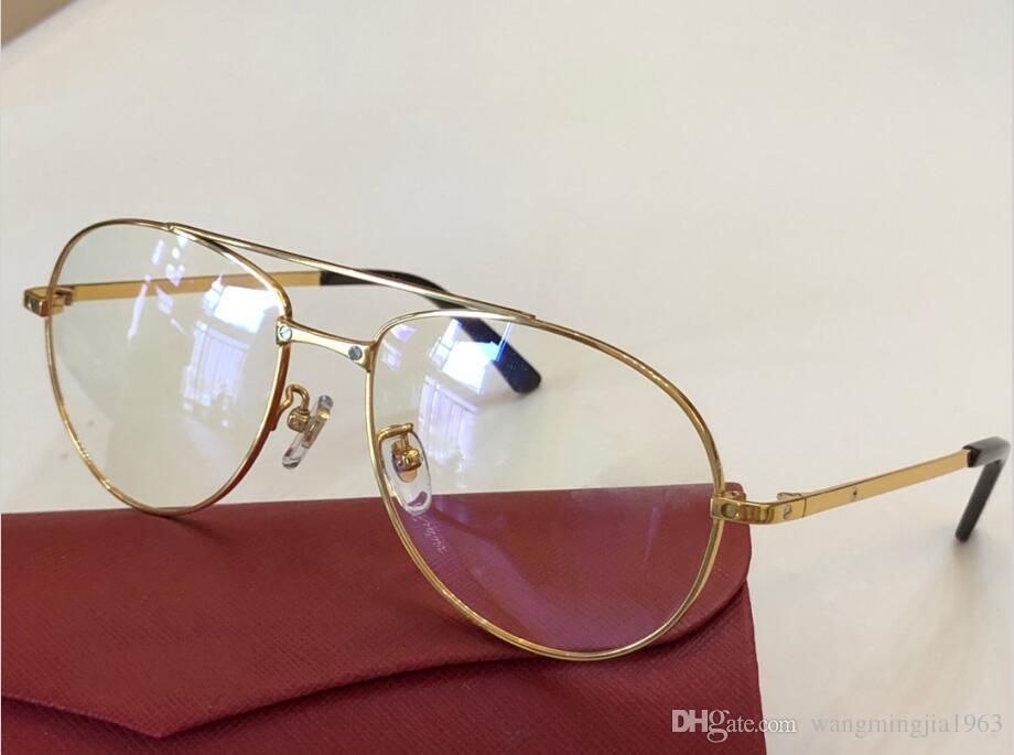 Cadres lunettes Hommes et 810138 Femmes Lunettes de vue Nouveaux verres Clear Cadre Cadre concepteur Cadre Oculos lunettes Cadre de boîtier OPVGN