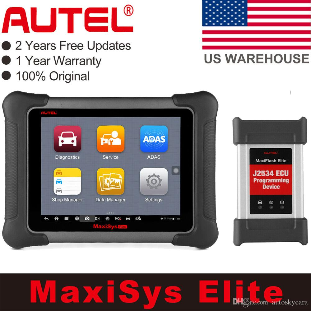 Autel MaxiSYS Elite Diagnostic Tool with J2534 ECU Coding Programming Support Wifi/Bluetooth OBD2 Automotive Scanner USA Version Free Update