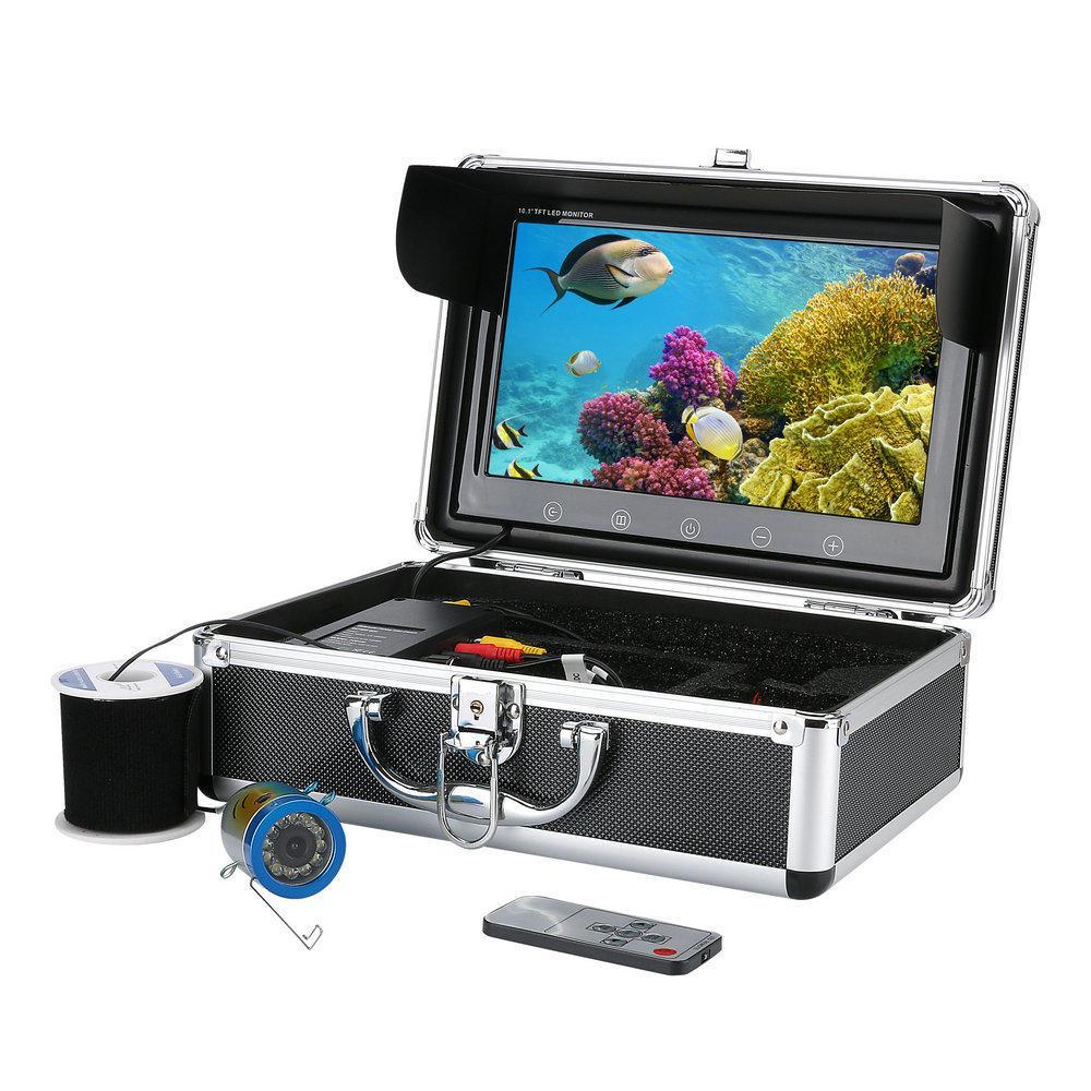 10inch Kamera HD Görsel Balıkçılık Sistemi ile LCD Ekran IrLED Işık Kızılötesi Lamba BUZ Balıkçılık Sıcak Satıyoruz Sualtı - AB 50M